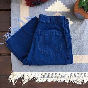 Vintage High Waisted Flare Jeans • Raw Hem